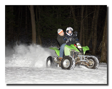"""Having A Blast!!"" My grandson and son-in-law, Sean & Matt out for a ride on Christmas night."