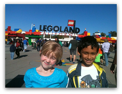 Ella and Peyton at Lego land California