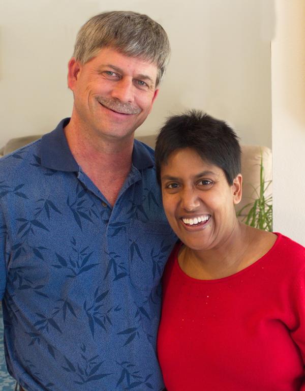 Lori and Joe Miller. Christmas, 2013.