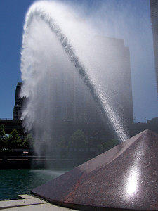 Water Cannon across the Chicago River