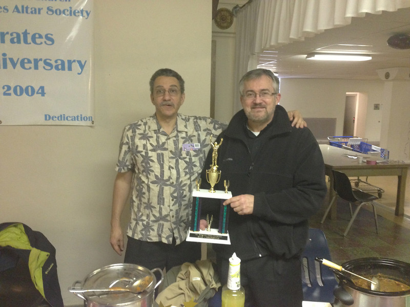 Trophy Winners Fr Tim (Best), Jeff (Hottest)