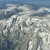Grand Tetons from the air.
