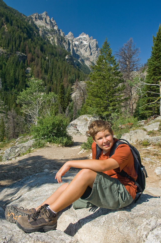 Kevin, hiking in the Tetons