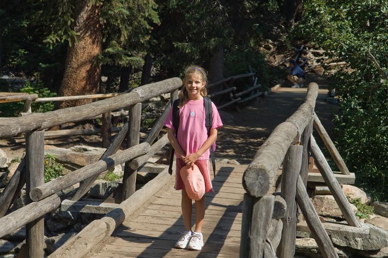 Sara, hiking in the Tetons