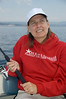 Steph, fishing for Cutthroat Trout on Lake Yellowstone