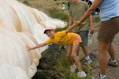Sara at the Travertine deposits near Mammoth