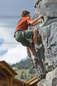 Some rock wall fun at the Jackson Hole ski resort