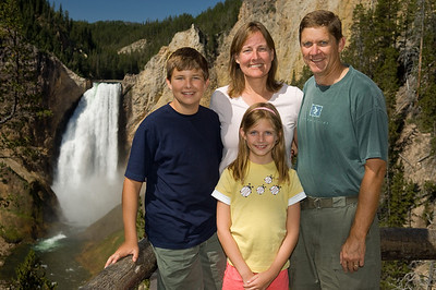 The Friends in front of Lower Yellowstone Falls