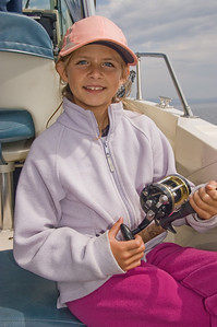 Sara, fishing for Cutthroat Trout on Lake Yellowstone