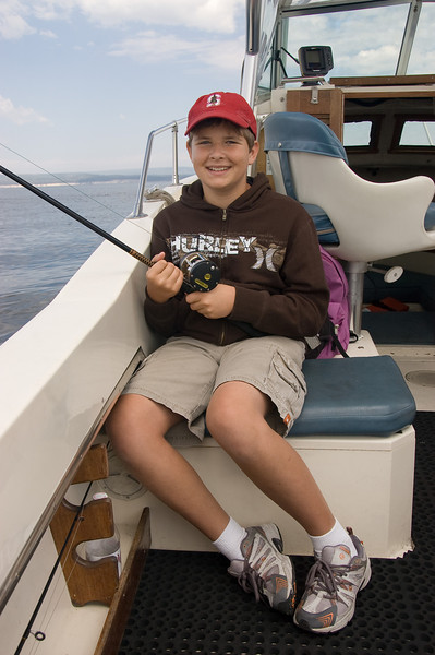 Kevin, fishing for Cutthroat Trout on Lake Yellowstone