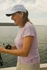 Steph, fishing on Lake Yellowstone