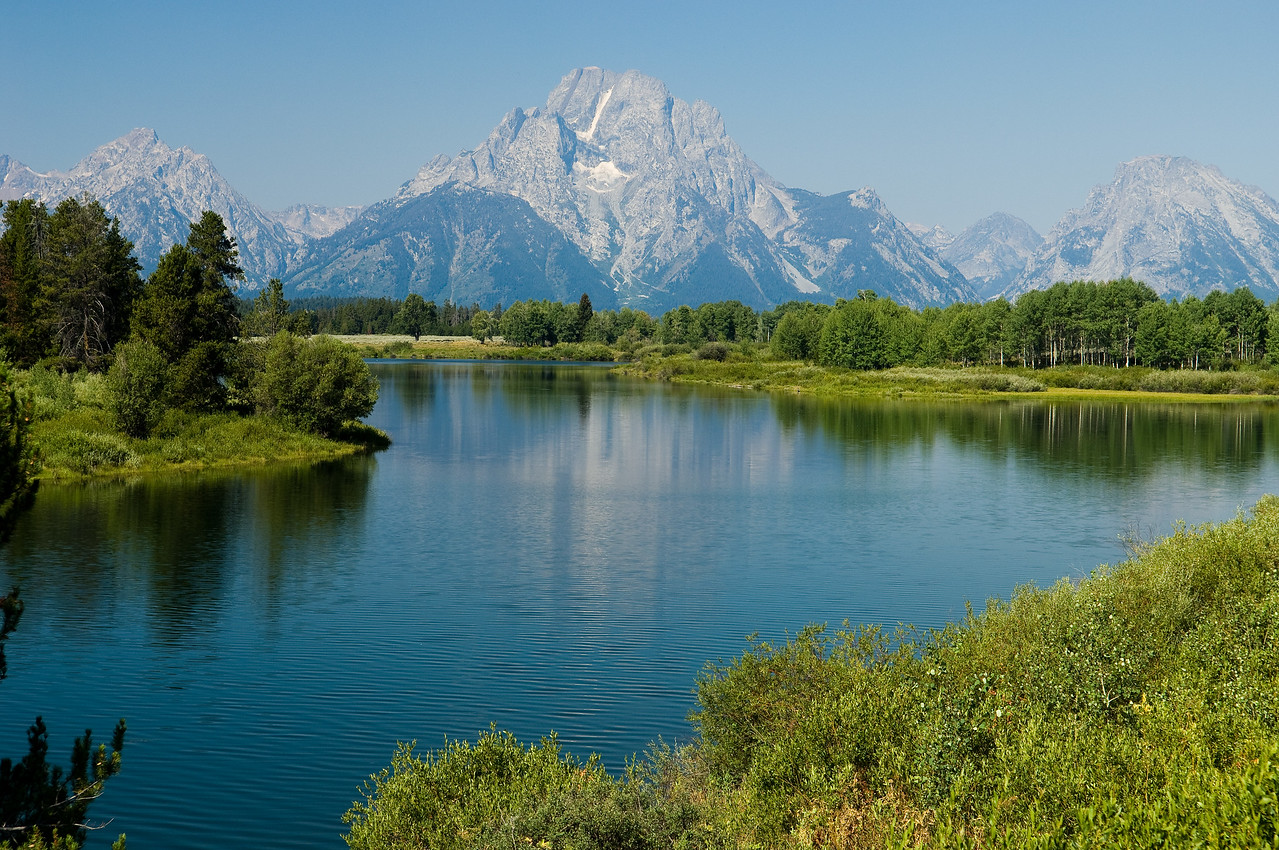 The Tetons over Oxbow Bend