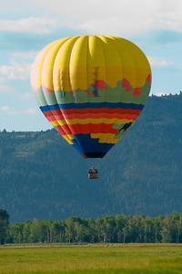 Ballooning near Jackson Hole
