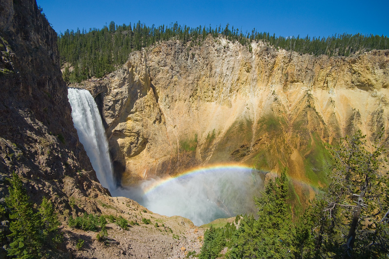 Rainbow in the mist - Yellowstone Falls