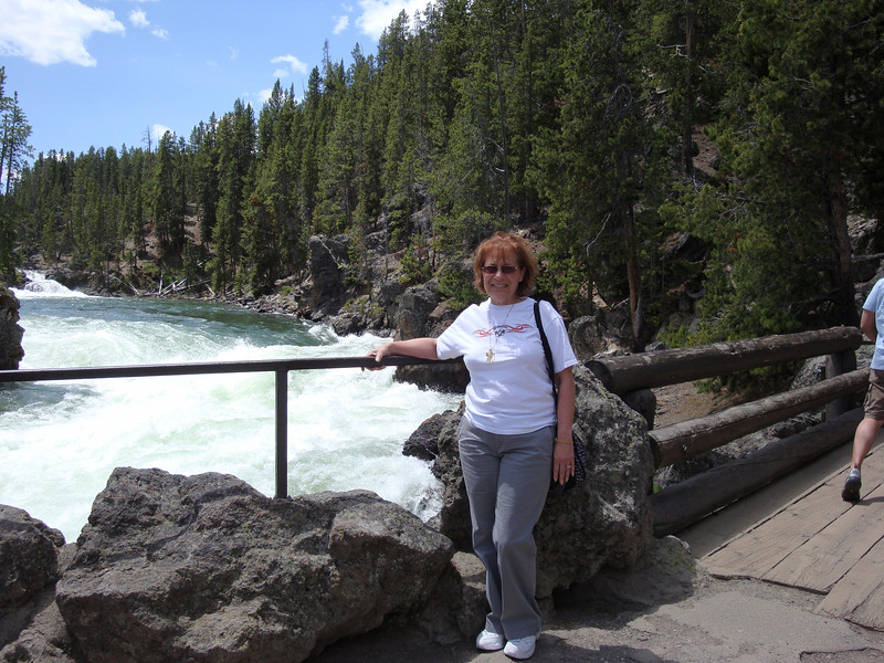 Joan looking out over the Yellowstone River.