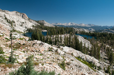 Looking down on May Lake