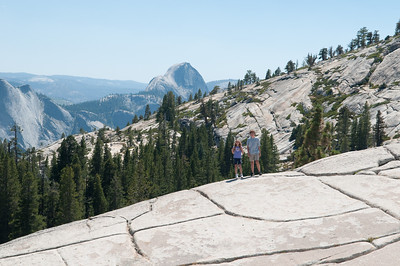 Olmsted Point - The kids posing in front of Half Dome