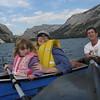Charlee and family on Lake Tenaya, Yosemite National Park