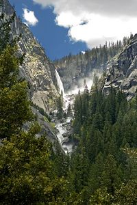 This is Illilouette Falls.  You see it across the canyon when hiking up to Vernal Falls.  There are literally waterfalls everywhere you look.