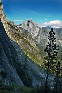 A late afternoon look at Half Dome on the way down.