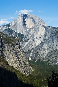 One last look at Half Dome.  We got back to the car at about 8:00 in the evening, stopped at the local store for some ice cream and then drove home that night.  The kids were exhausted and fell asleep fairly quickly.  We got home at 11:30 and, due to the late hour, managed to avoid all the Memorial Day traffic.  All-in-all a great trip.
