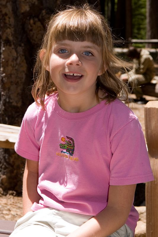 Sara, right after taking a break and eating our lunch before the hike ot Vernal Falls.