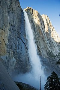 One last look at Upper Yosemite Falls as the sun is going down.