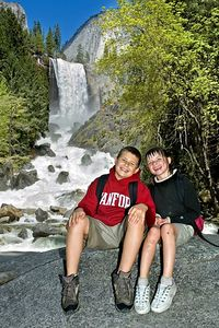 Kevin and Sara on the way down from Vernal Falls.
