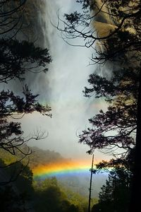 At certain angles, we'd get really neat rainbows in the mist at the base of the falls.