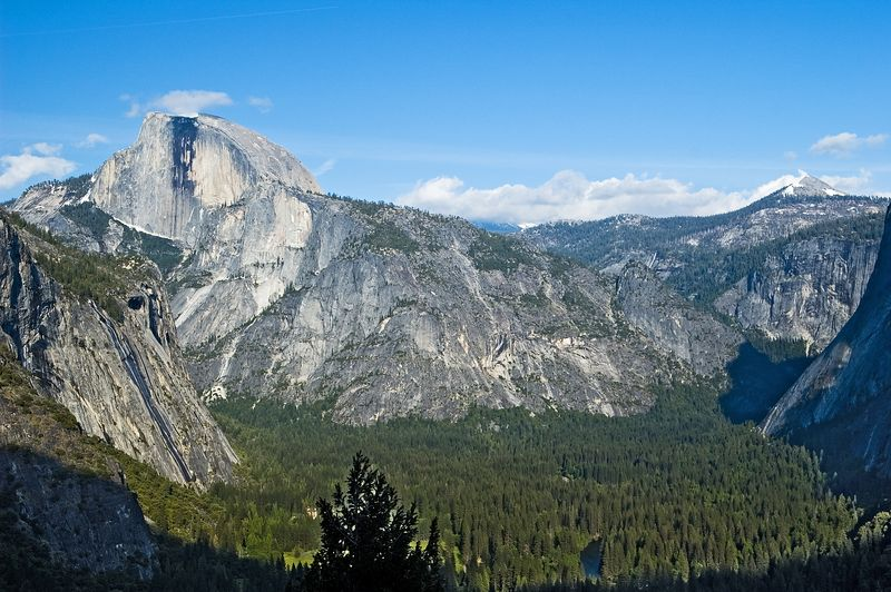 Half Dome towering over the rest of the valley below.