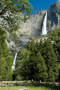 Another view of the two falls, Upper Yosemite and Lower Yosemite.