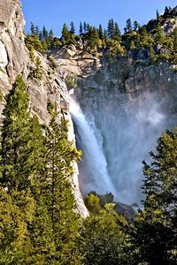 This was our first waterfall after entering Yosemite park.  I think it's called Lower Cascades.
