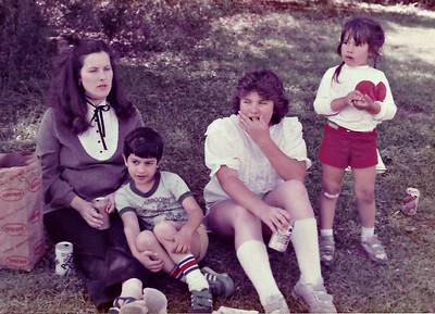 Len, Greg, Jenny and Missy 1984