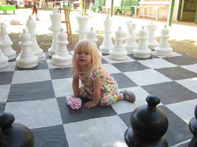 I thought she wanted to learn how to play chess, but apparently she was just looking for a blanket for a diaper change.