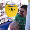 Katie was a little scared on the ferris wheel.