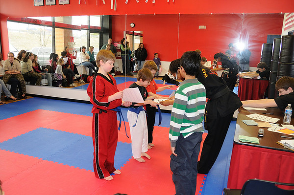 Zachy Red belt test and Graduation