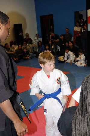 Zachy Blue Belt test and Graduation