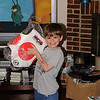Zachy will start sparring in karate next month.  We got him his sparring gear for his birthday.