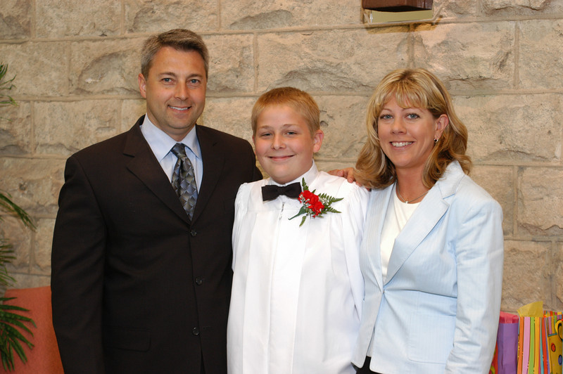 Marty, Zak, and Marty's wife Lisa.  Many thanks to both Lisa and Marty for traveling hundreds of miles to attend Zak's confirmation.  Thanks!!