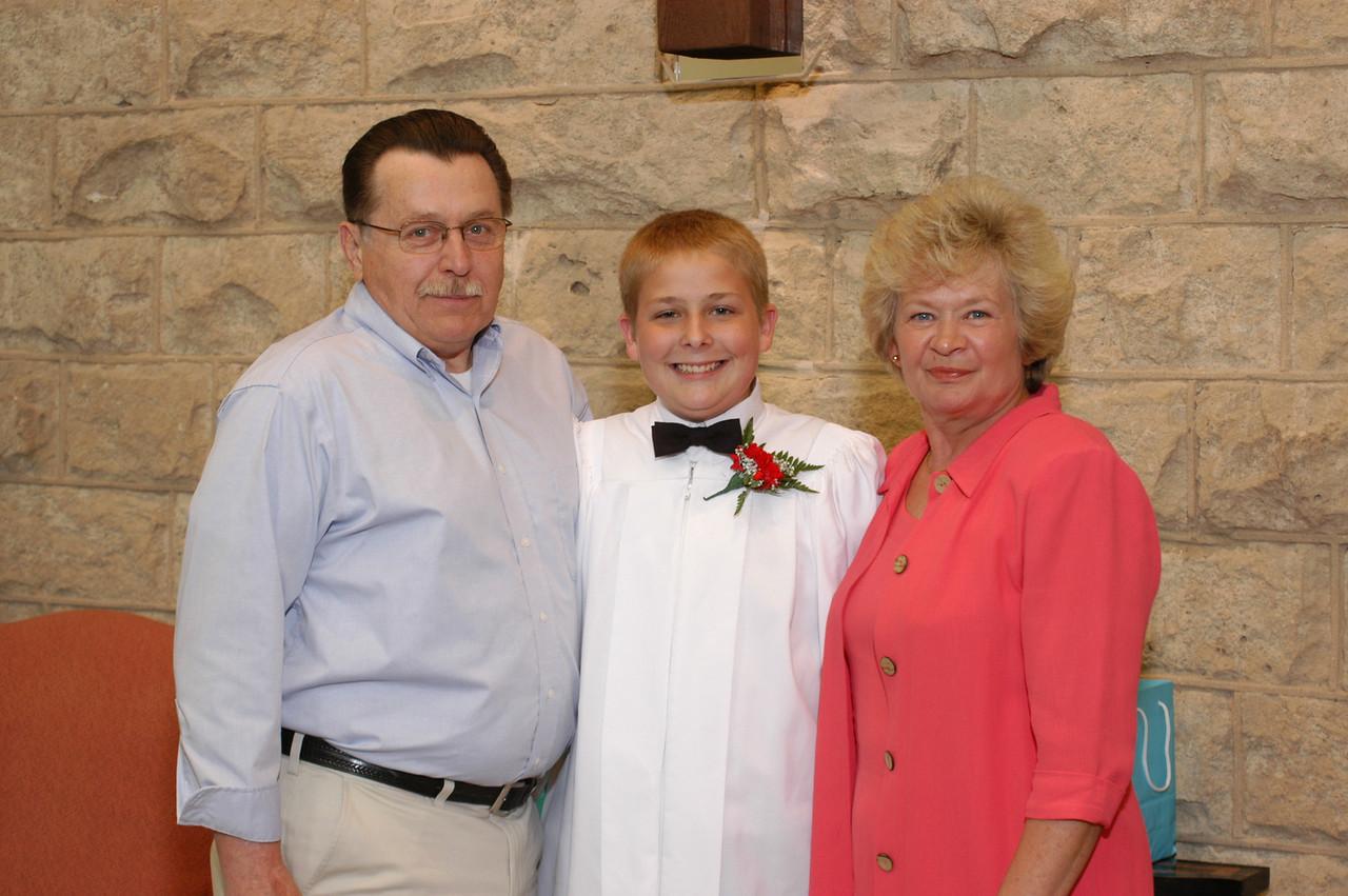 Grandpa and Grandma Fredrick with Zak.