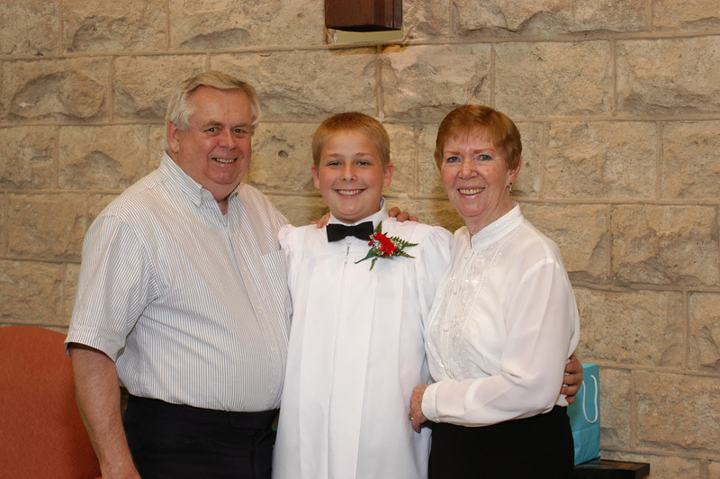 Grandpa and Grandma Moberg with Bubba (Zak)