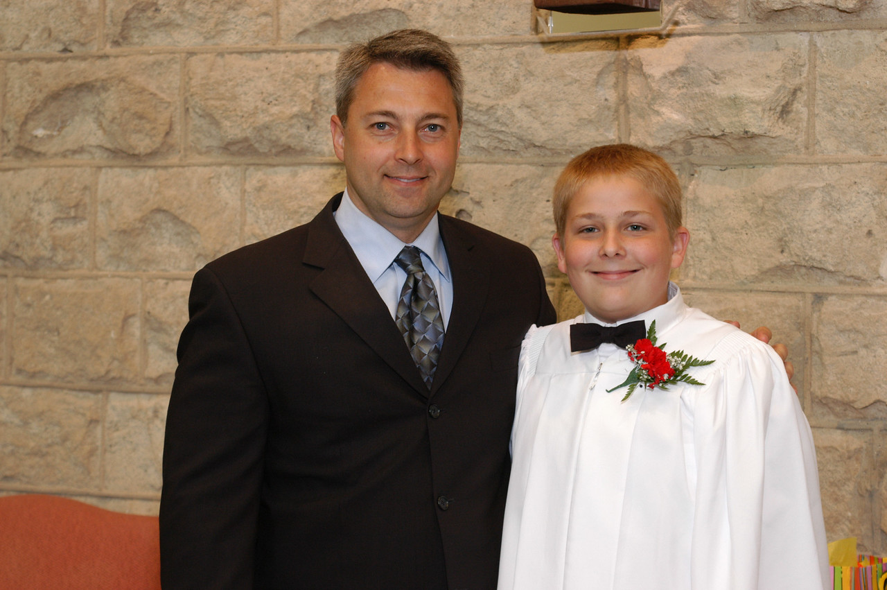 Zak and his Sponsor (God Father) Marty Pierce.