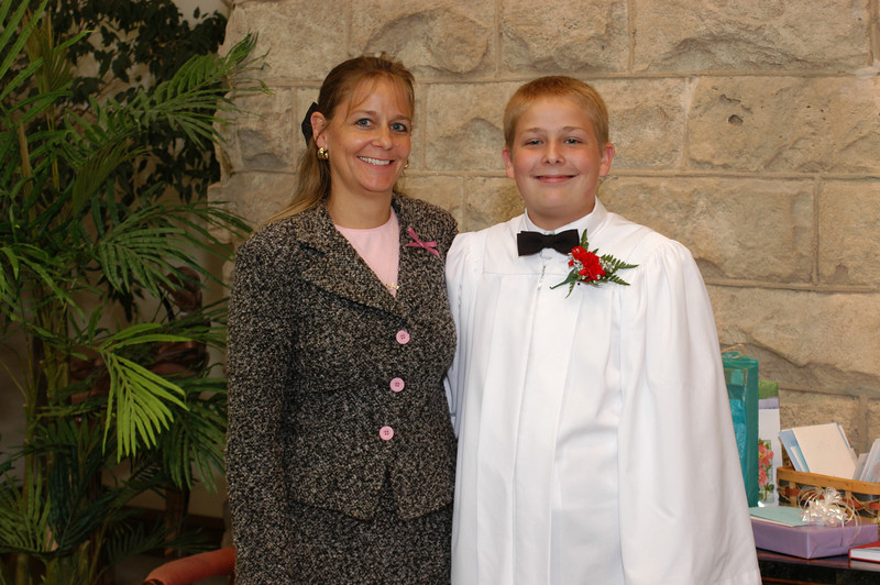 Zak with his mom.  He looks so happy!