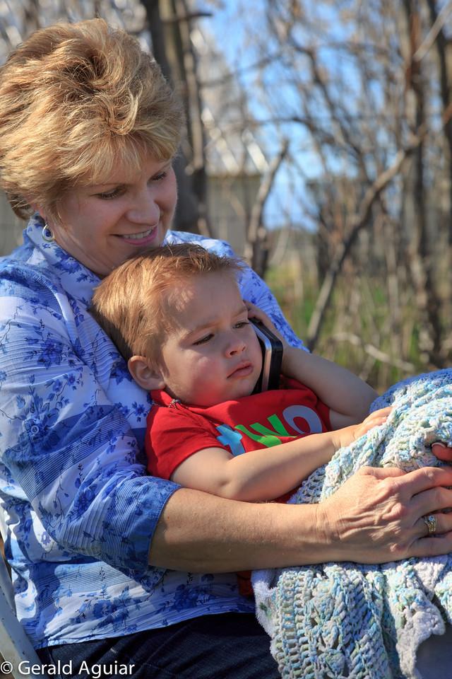 Jenny holding Zane.