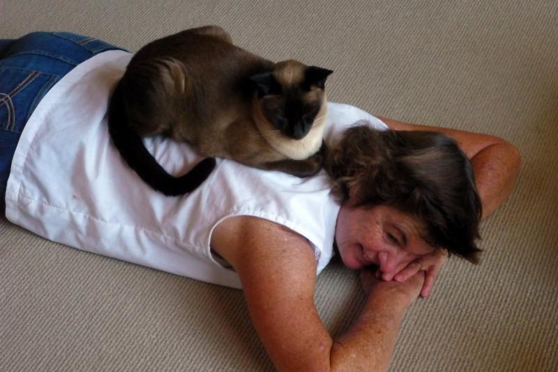 Back massage for Robyn