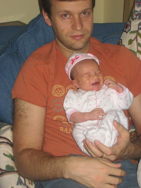 Daddy holding Zoe