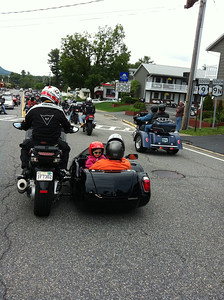 Riding the Zoe-mobile. Americade 2012