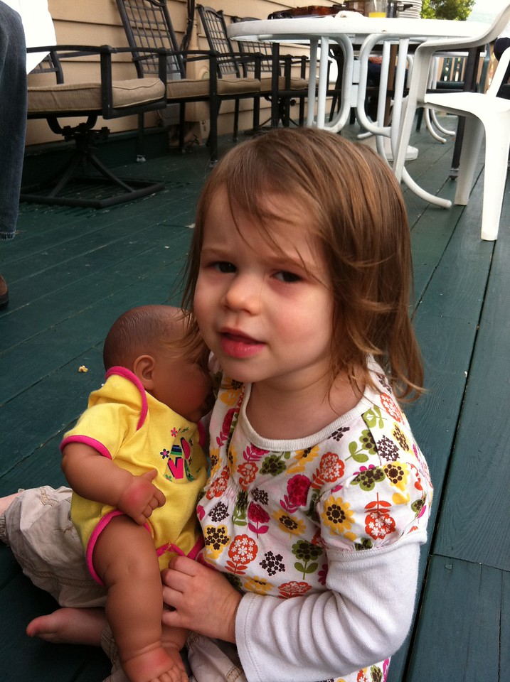 Zoe with Baby Todne at Americade 2012-06-09