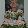 Aunt suzie with Bday cake for Bonns 21st