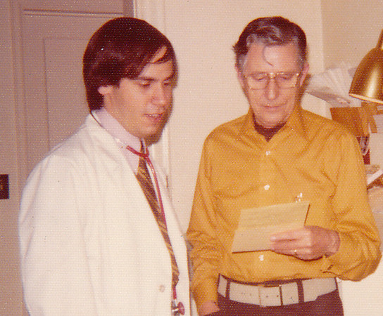 Eric with his mentor Lyle Rachuy MD, Stockton Illinois, 1973